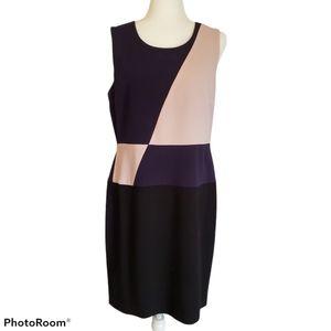 DKNY SLEEVELESS COLORBLOCK SHIFT DRESS ~ 12